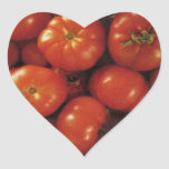 Arte del tomate calcomania corazon personalizadas