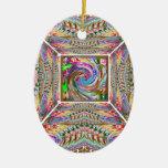 Arte del tornado de la ONDA en un TÚNEL Ornamentos Para Reyes Magos