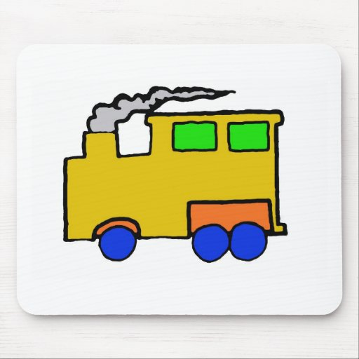 Arte del tren del muchacho del cumpleaños tapetes de raton