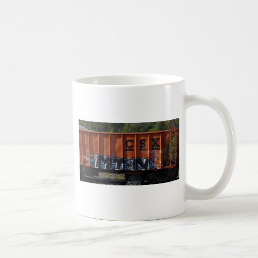 Arte del tren taza