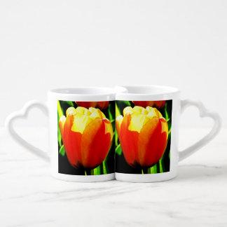 Arte del tulipán taza para enamorados