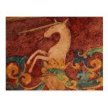 Arte del unicornio del renacimiento tarjetas postales