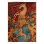 Arte del unicornio del renacimiento tarjetas