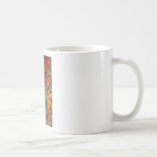 Arte del unicornio del renacimiento taza de café