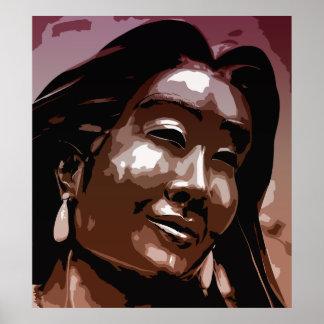 Arte del vector de Kateri Tekakwitha del santo Poster
