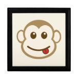 Arte del vector de la cara del mono caja de regalo