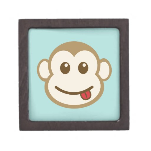 Arte del vector de la cara del mono cajas de regalo de calidad