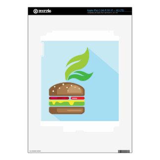 Arte del vector de la hamburguesa del Veggie Pegatina Skin Para iPad 3