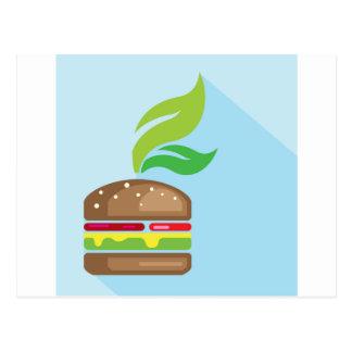 Arte del vector de la hamburguesa del Veggie Tarjetas Postales