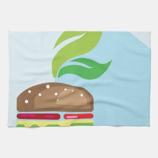Arte del vector de la hamburguesa del Veggie Toalla