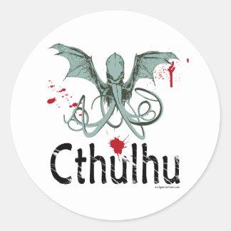 Arte del vector del horror de Cthulhu Pegatinas