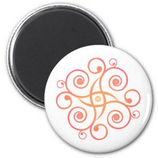 Arte del vector: Espirales de la pendiente: Imán Redondo 5 Cm