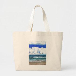 Arte del verano de la playa del mar de la sonata d bolsa lienzo