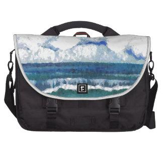 Arte del verano de la playa del mar de la sonata d bolsas de portatil