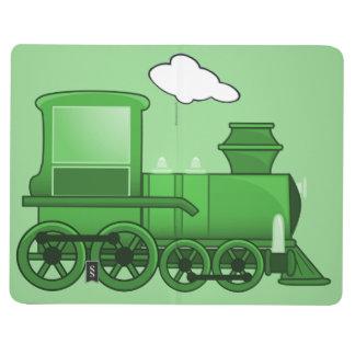 Arte del verde del loco del tren del vapor cuadernos