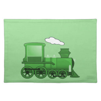 Arte del verde del loco del tren del vapor mantel