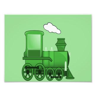 Arte del verde del loco del tren del vapor arte fotografico