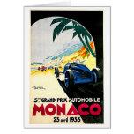 Arte del viaje de la carrera de coches de Mónaco Tarjeta Pequeña