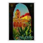 Arte del viaje de Palermo Sicilia Italia Posters