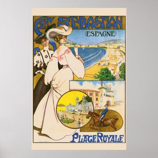 Arte del viaje de San Sebastián España del vintage Posters