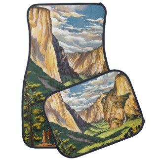 Arte del viaje de Yosemite Alfombrilla De Auto