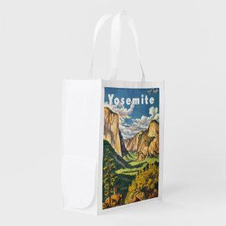 Arte del viaje de Yosemite Bolsas Para La Compra