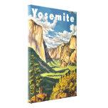Arte del viaje de Yosemite (vector) Impresion De Lienzo
