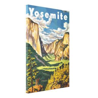Arte del viaje de Yosemite (vector) Impresiones En Lona