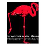 Arte del viaje del flamenco del jardín del parque  postales