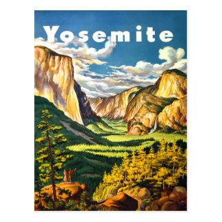 Arte del viaje del parque nacional de Yosemite Postales