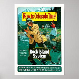 Arte del viaje del sistema de la isla de la roca d