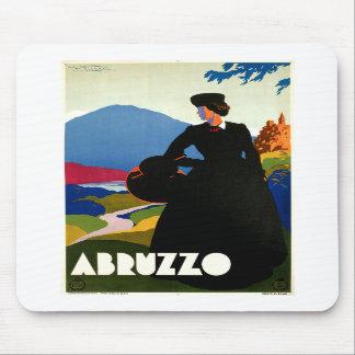 Arte del viaje del vintage de Abruzos Italia Tapete De Ratón