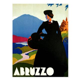 Arte del viaje del vintage de Abruzos Italia Tarjetas Postales