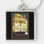 Arte del viaje del vintage de la India de la visit Llaveros Personalizados