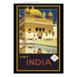 Arte del viaje del vintage de la India de la visit Felicitaciones