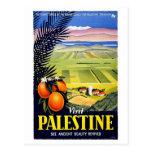 Arte del viaje del vintage de la Tierra Santa de P Tarjetas Postales
