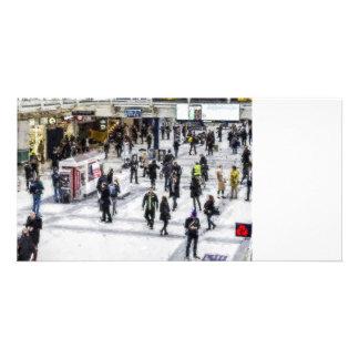 Arte del viajero de Londres Tarjeta Con Foto Personalizada