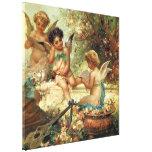 Arte del Victorian, ángeles del músico de Hans Impresiones En Lona Estiradas