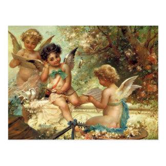 Arte del Victorian, ángeles del músico de Hans Postales