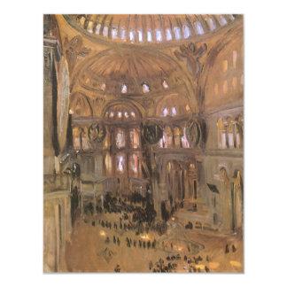 """Arte del Victorian, bosquejo de Santa Sophia por Invitación 4.25"""" X 5.5"""""""