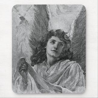 Arte del Victorian del ángel del vintage Alfombrilla De Ratón