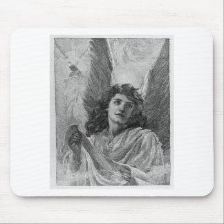 Arte del Victorian del ángel del vintage Tapete De Raton