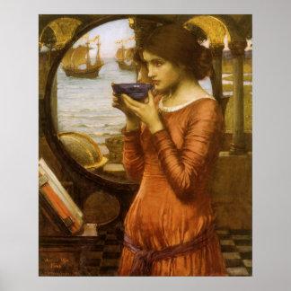 Arte del Victorian del vintage, destino por el Póster