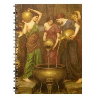 Arte del Victorian del vintage, el Danaides por el Spiral Notebook