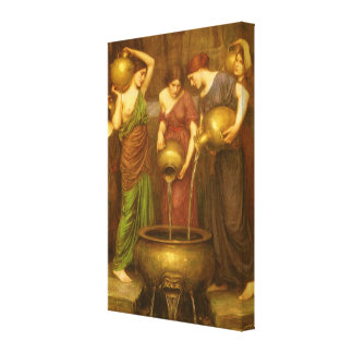 Arte del Victorian del vintage, el Danaides por el Impresiones En Lona