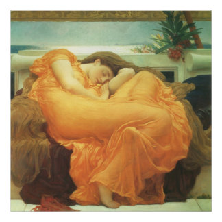 Arte del Victorian del vintage, flameando junio Póster