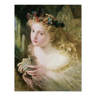 Arte del Victorian del vintage, mariposas de hadas Invitaciones Personales