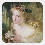 Arte del Victorian del vintage, mariposas de hadas Pegatina