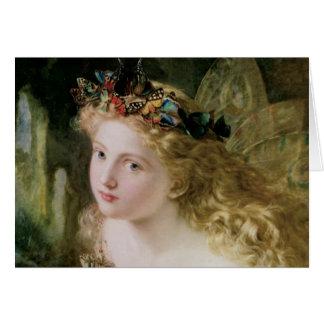 Arte del Victorian del vintage, mariposas de hadas Tarjeta De Felicitación