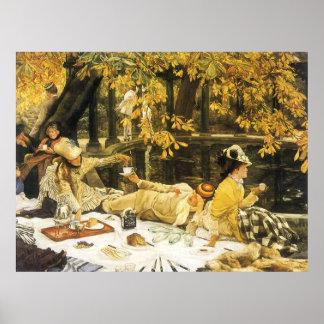 Arte del Victorian, Holyday, la comida campestre